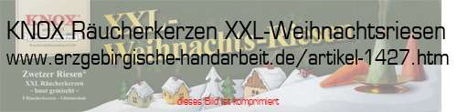 5 Zubehör KNOX Räucherkerzen XXL-Weihnachtsriesen inkl Glimmschale
