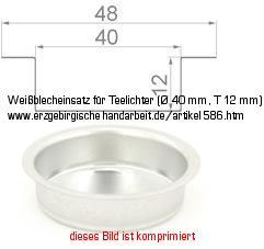 Messingtülle Tülle für Teelichter Teelichteinsatz Teelichthalter 40 mm 70125